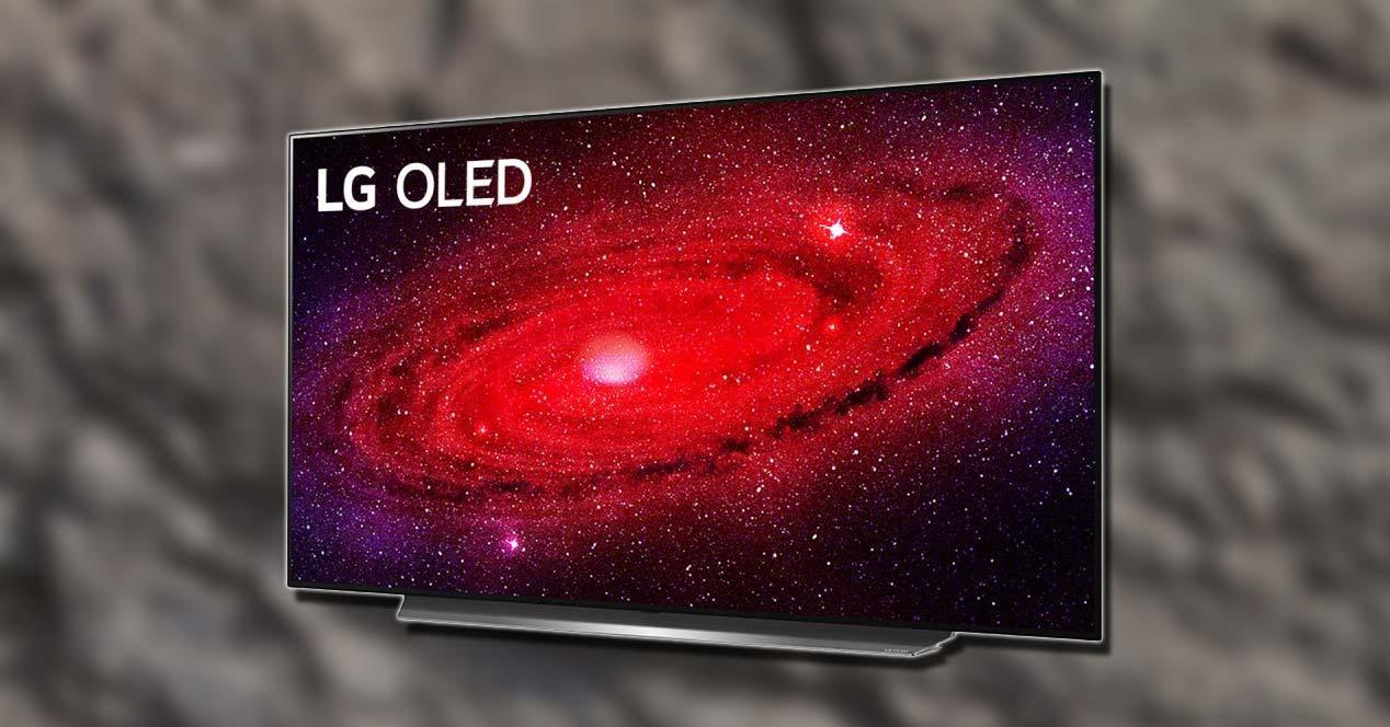 Smart TV LG OLED55CX3LA con fondo
