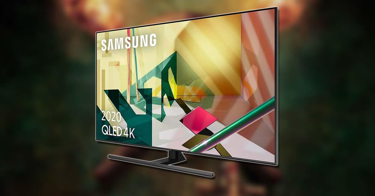 Smart TV Samsung QE65Q70T con fondo negro