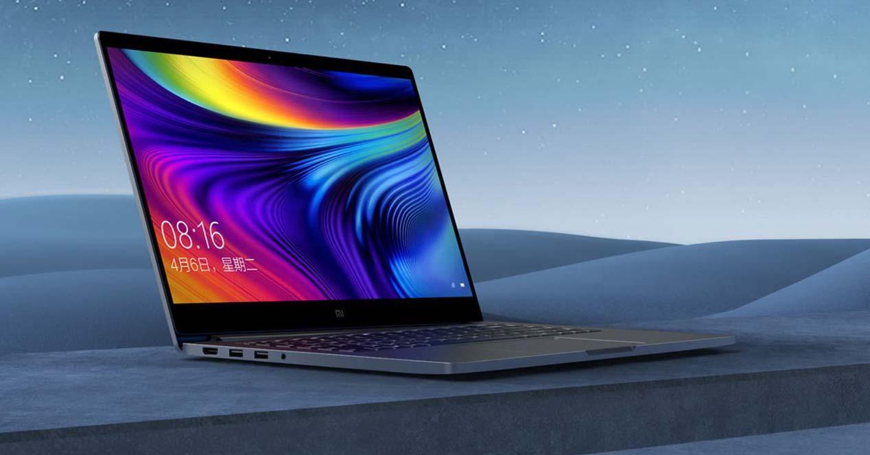 Portátil Xiaomi Pro 15 con fondo