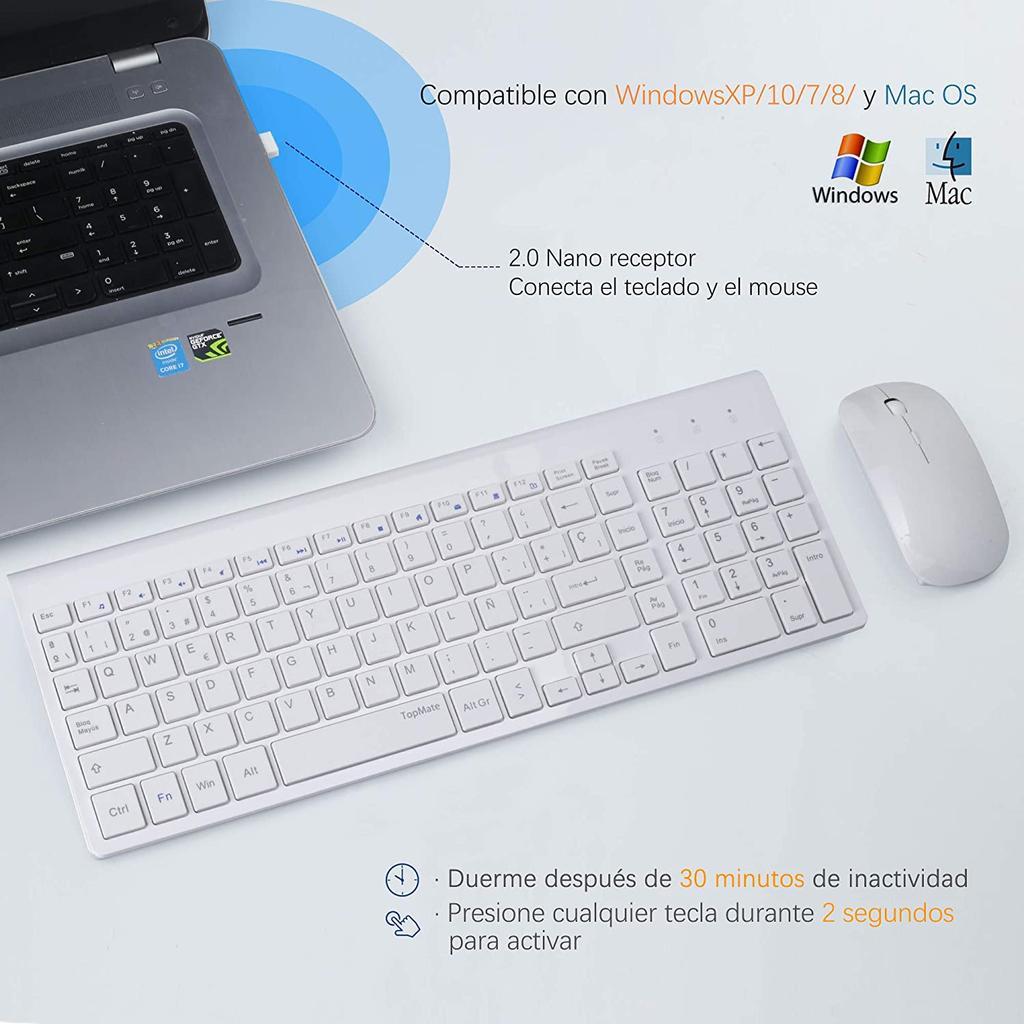 TopMate Combo de Teclado y Mouse