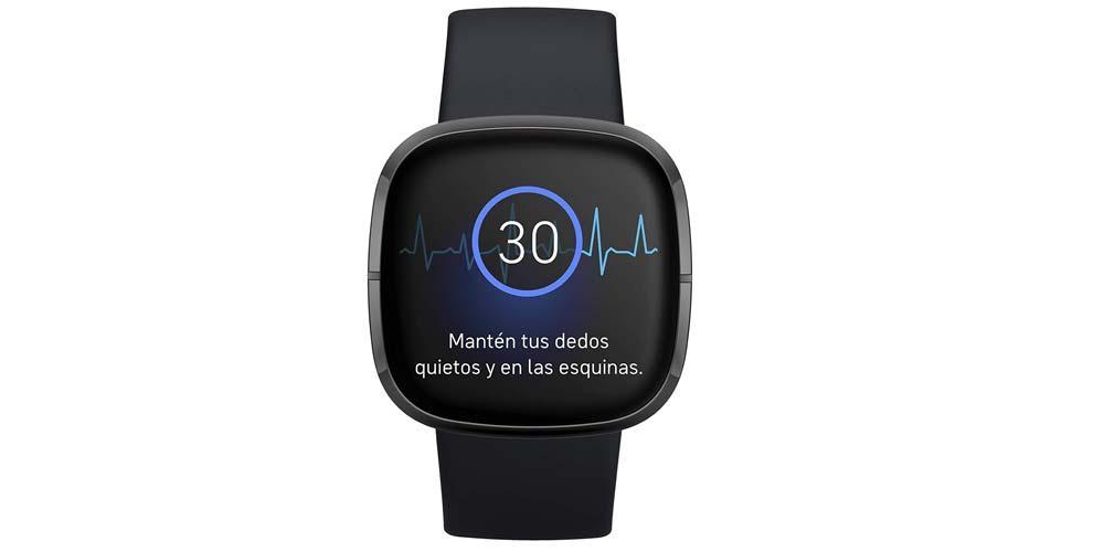 Fitbit Sense smartwatch-skärm