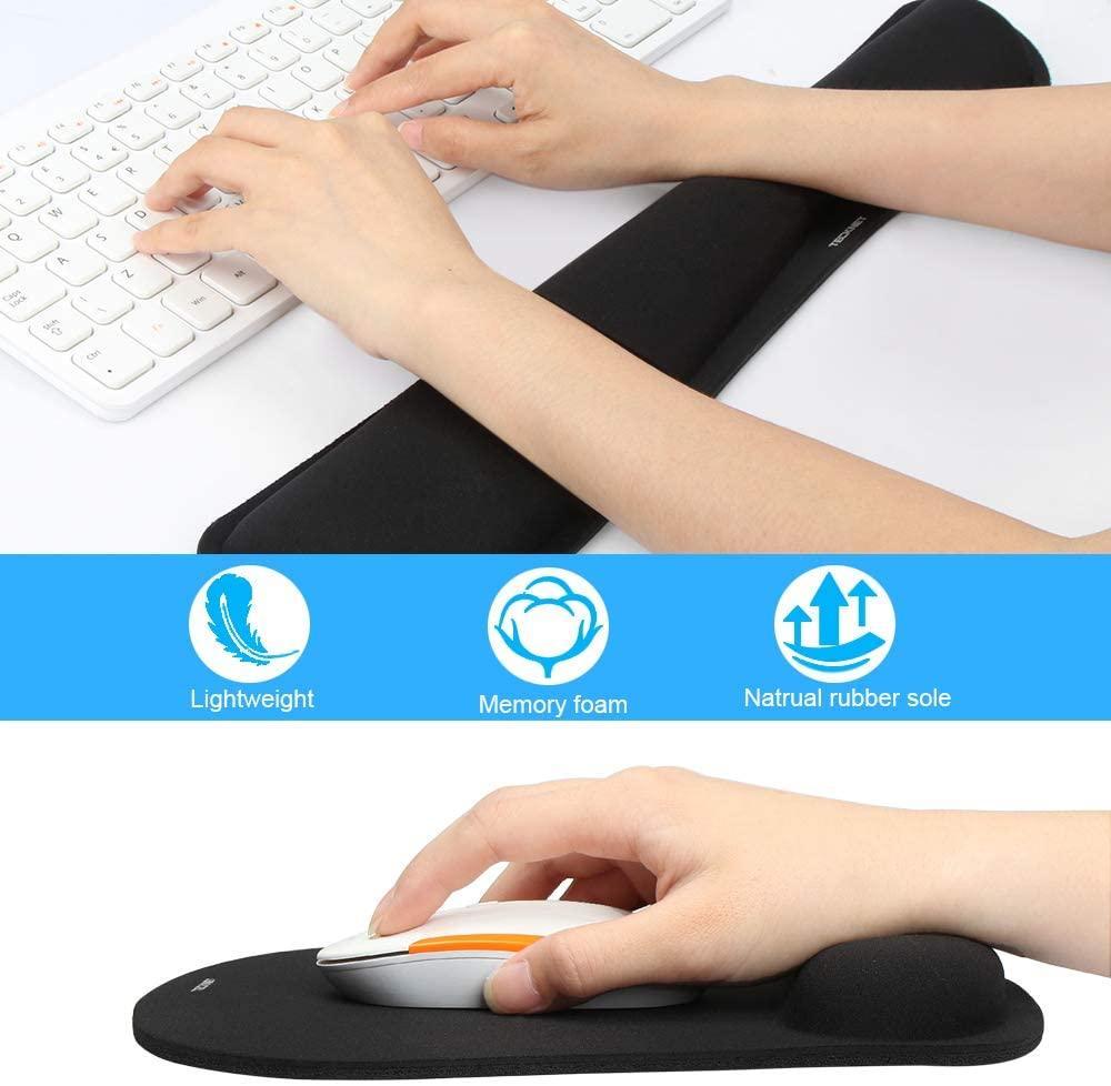 Reposamuñecas para teclado y ratón TECKNET