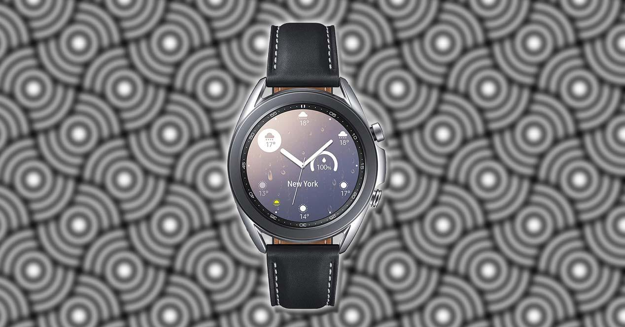 Samsung Galaxy Watch 3 con fondo