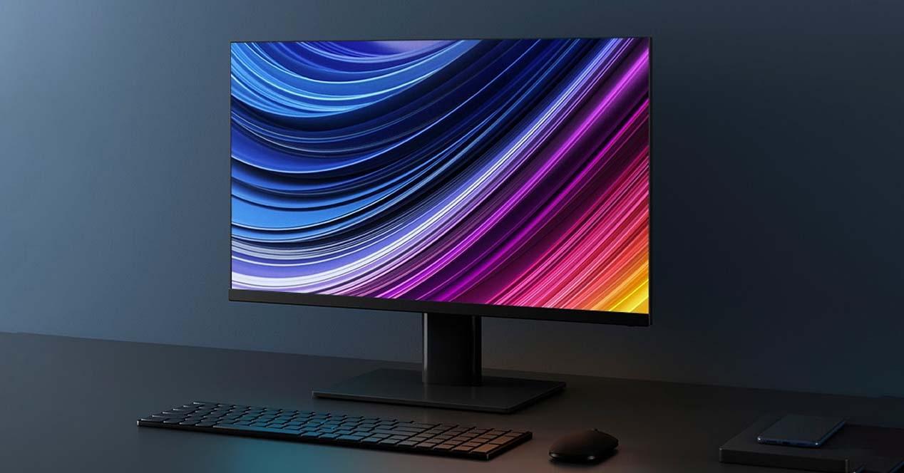 Monitor xiaomi mi display 1A en escritorio