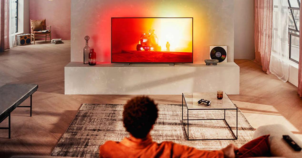 "Smart TV philips de 65"" con Alexa"