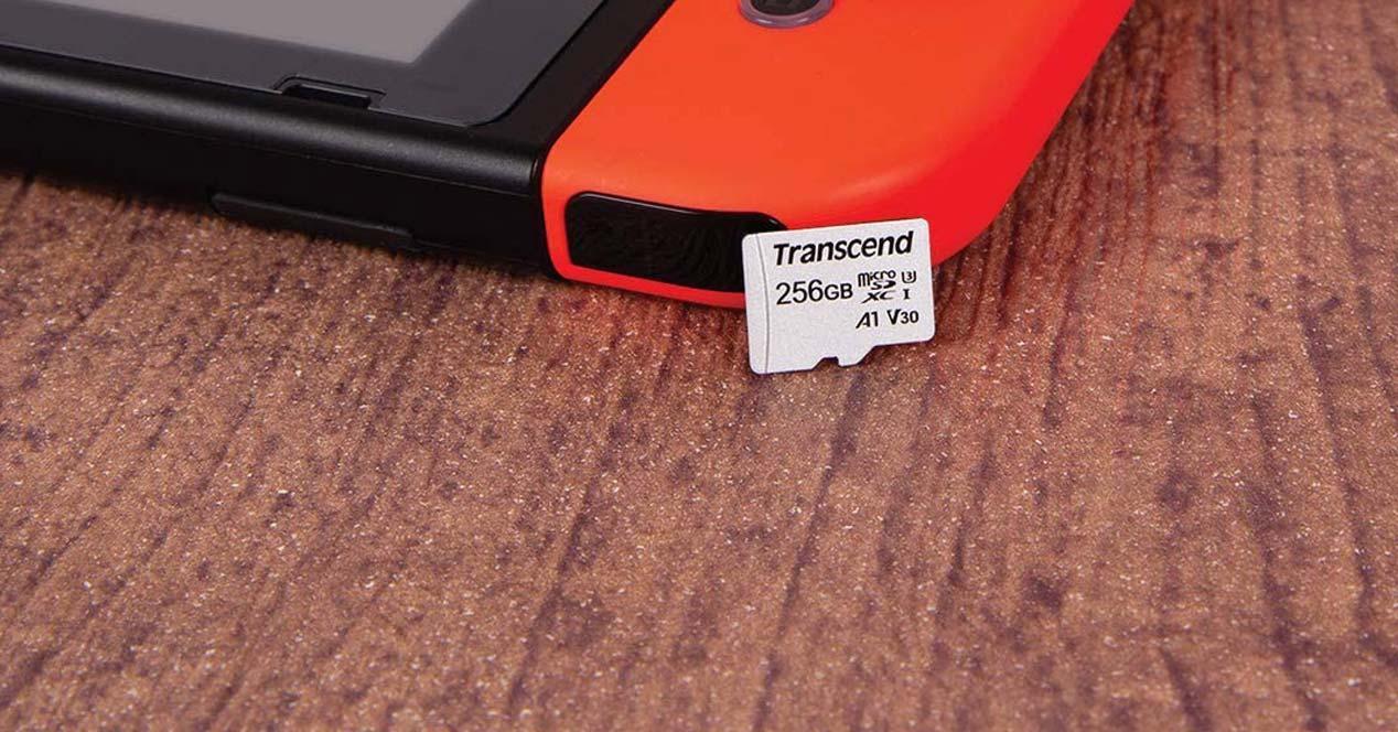Tarjeta microSD con Switch de Nintendo