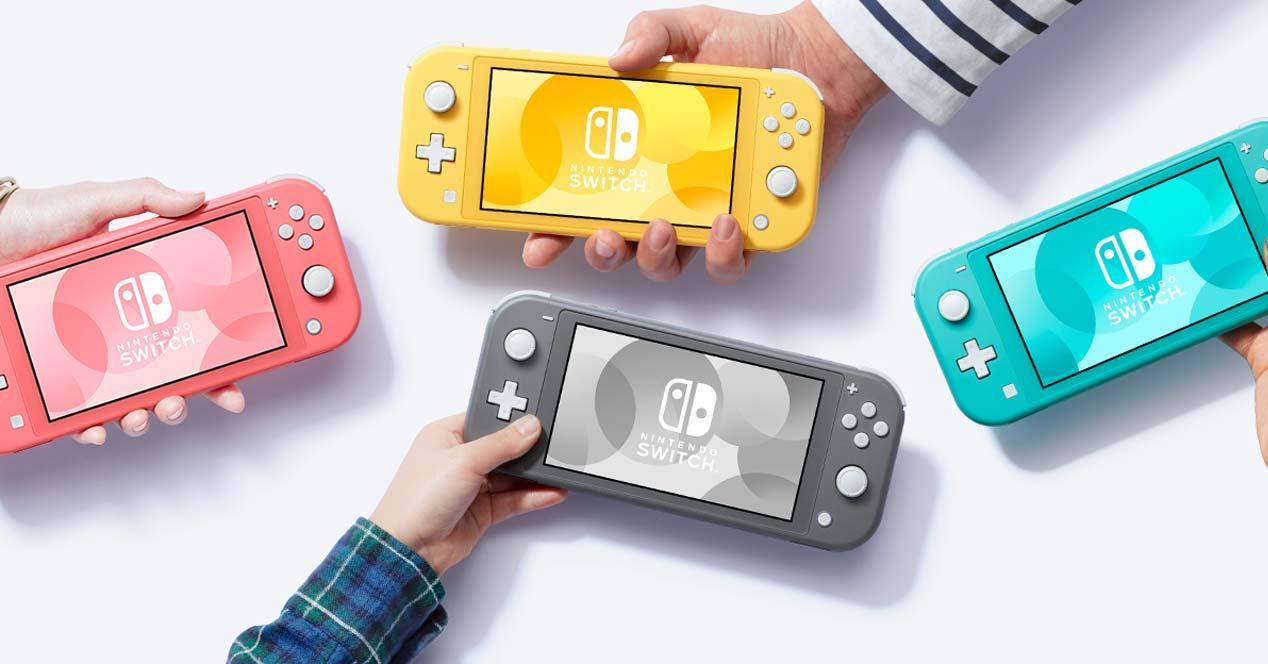 Colores de la Nintendo Switch Lite