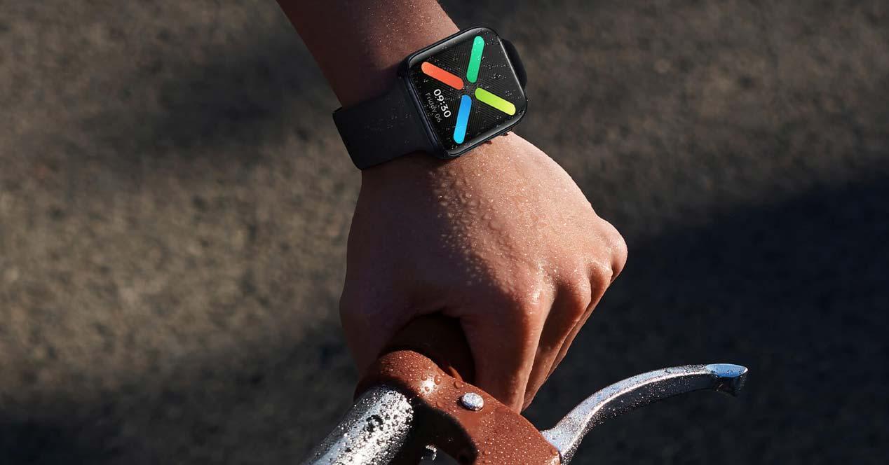 Uso del smartwatch OPPO Watch