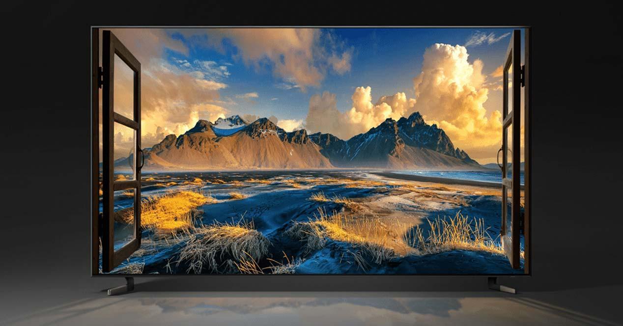 Smart TV Samsung con fondo