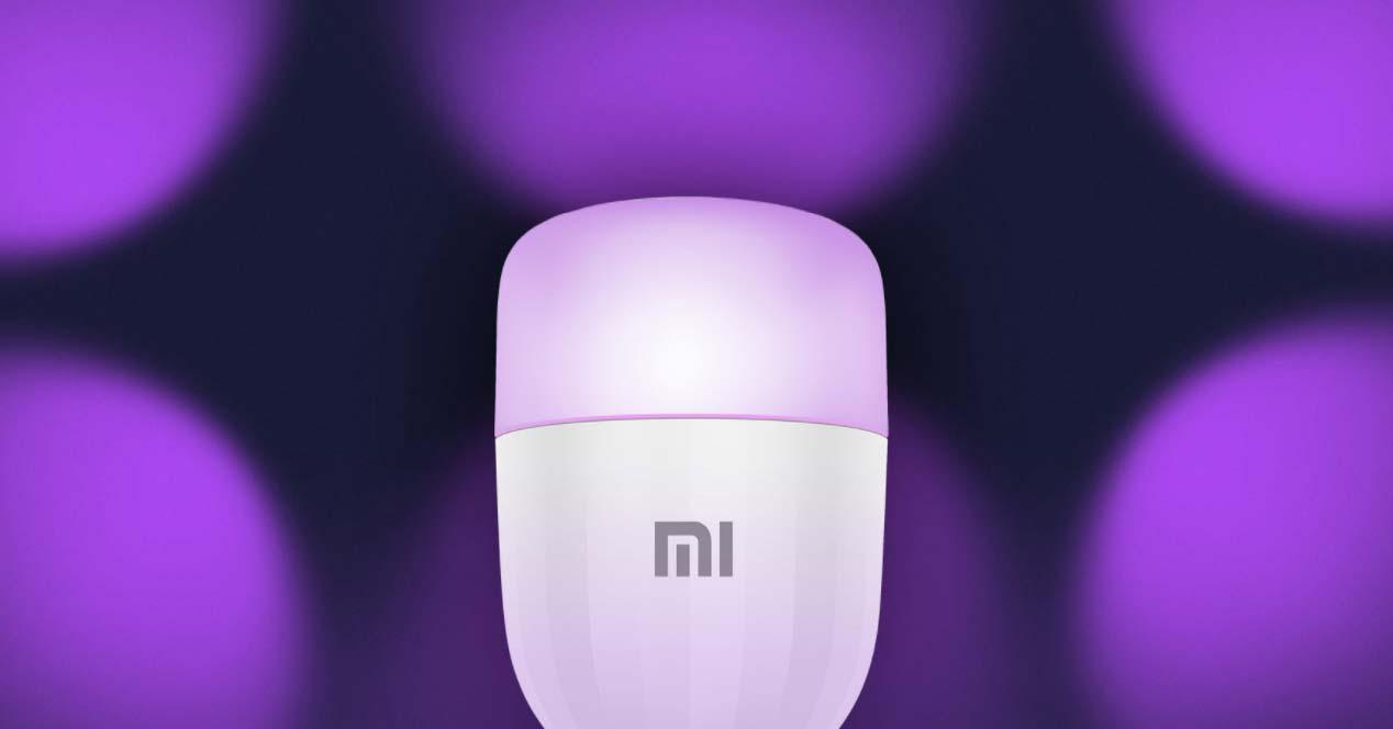 Bombilla Xiaomi con fondo