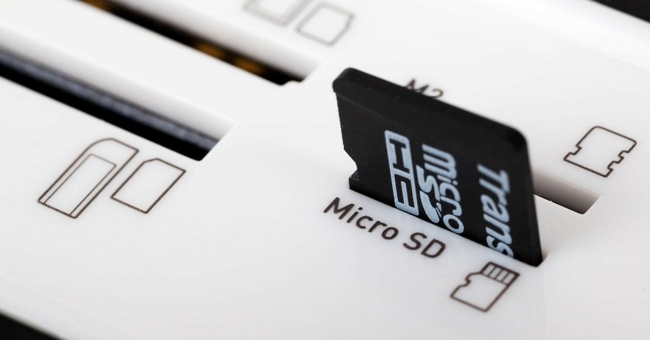 micro sd en lector de tarjetas