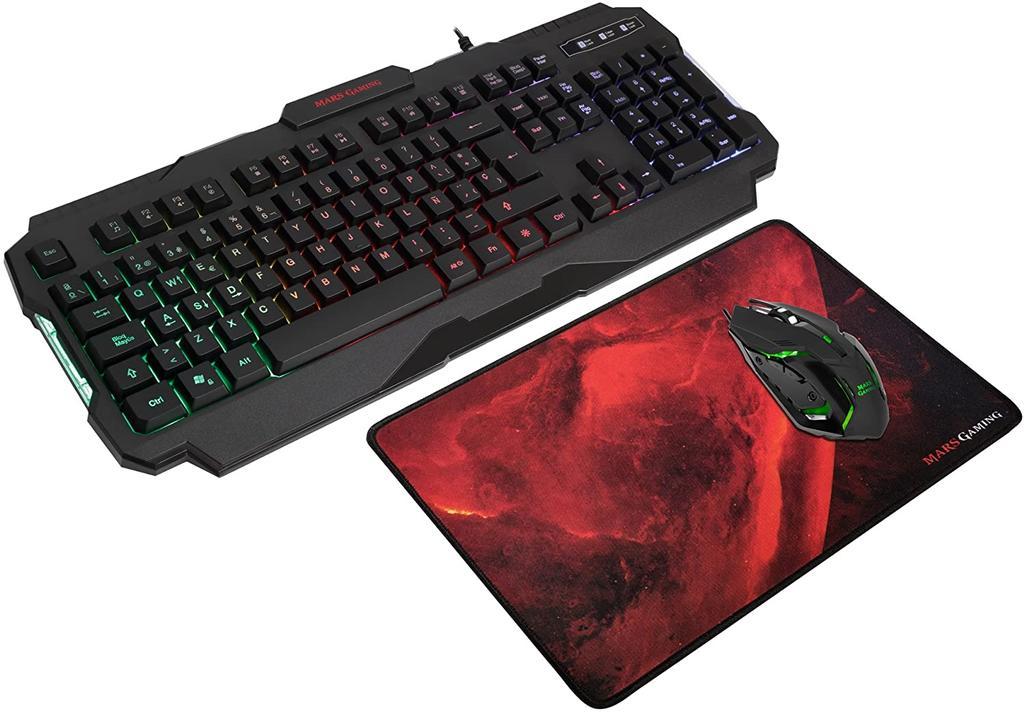 Pack de ratón y teclado Mars Gaming MCP118