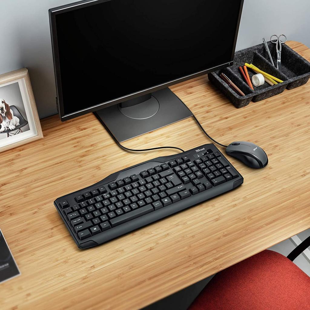 Pack de ratón y teclado Trust Classicline