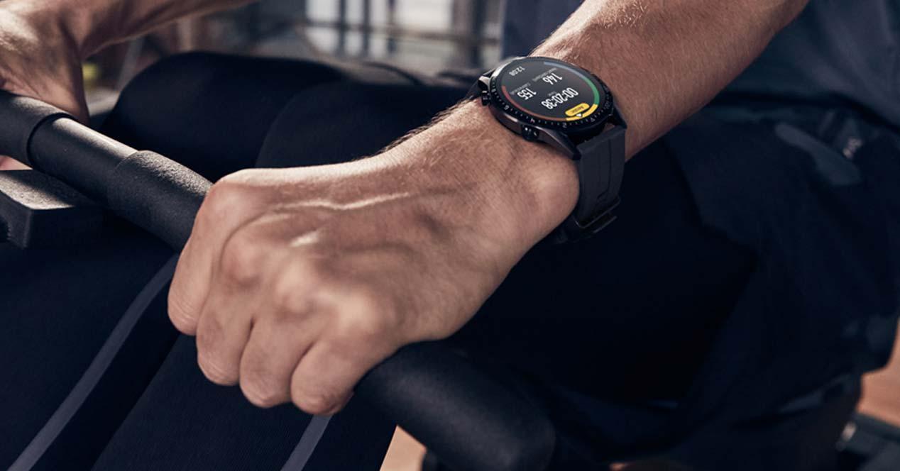 uso del reloj inteligente Huawei Watch GT2 Sport
