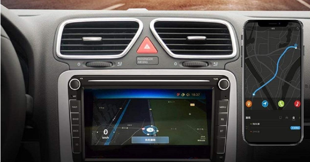 reproductor para el coche con Android en el salpicadero