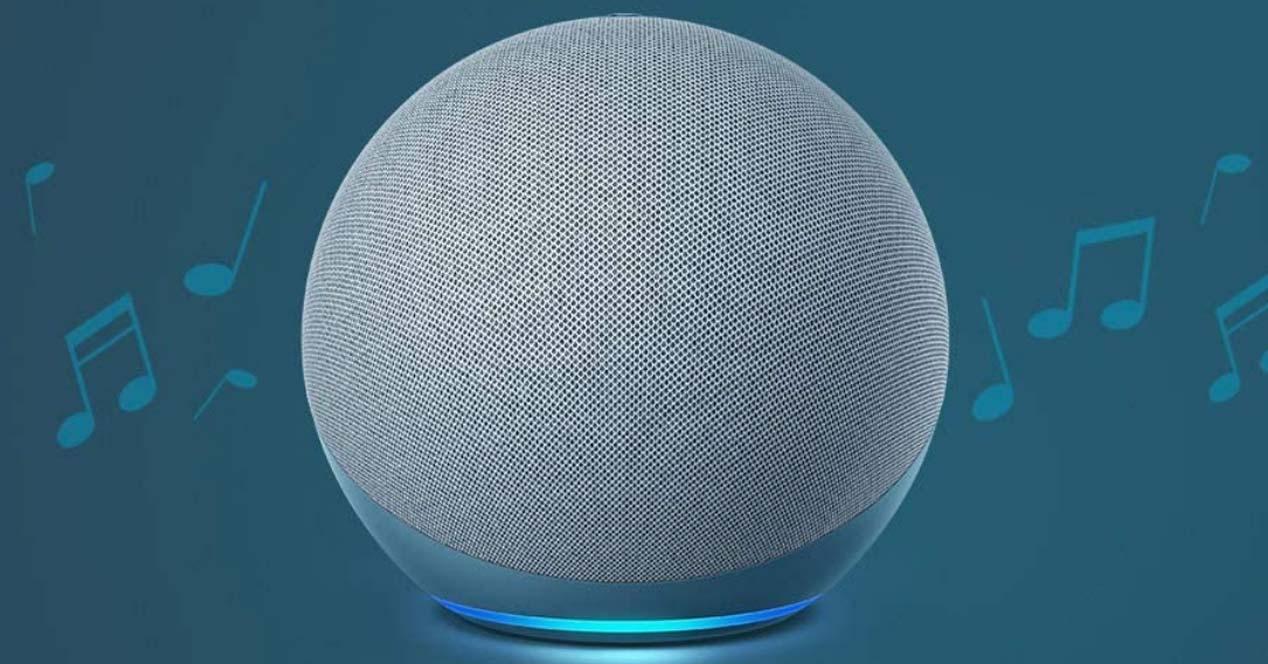 Amazon Echo con fondo música