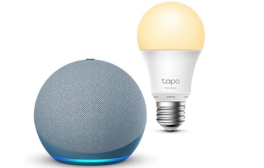 Echo Dot (4.ª génération), Azul grisáceo + TP-Link Tapo