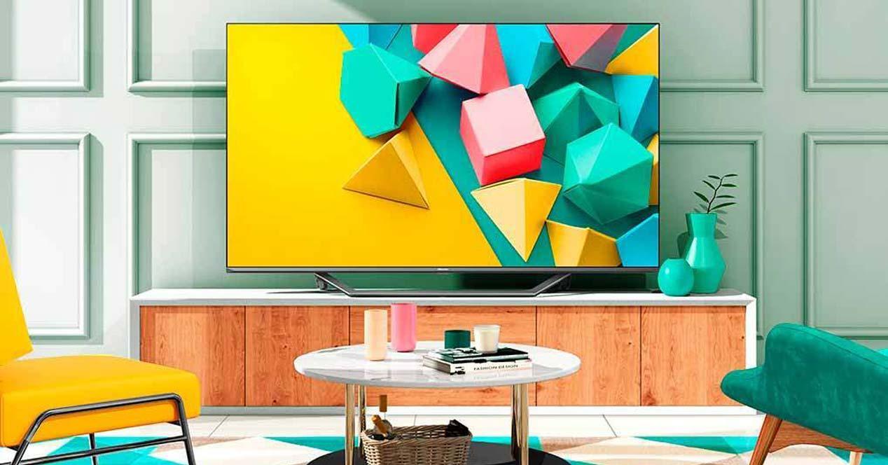 Smart Tv Hisense en el salón