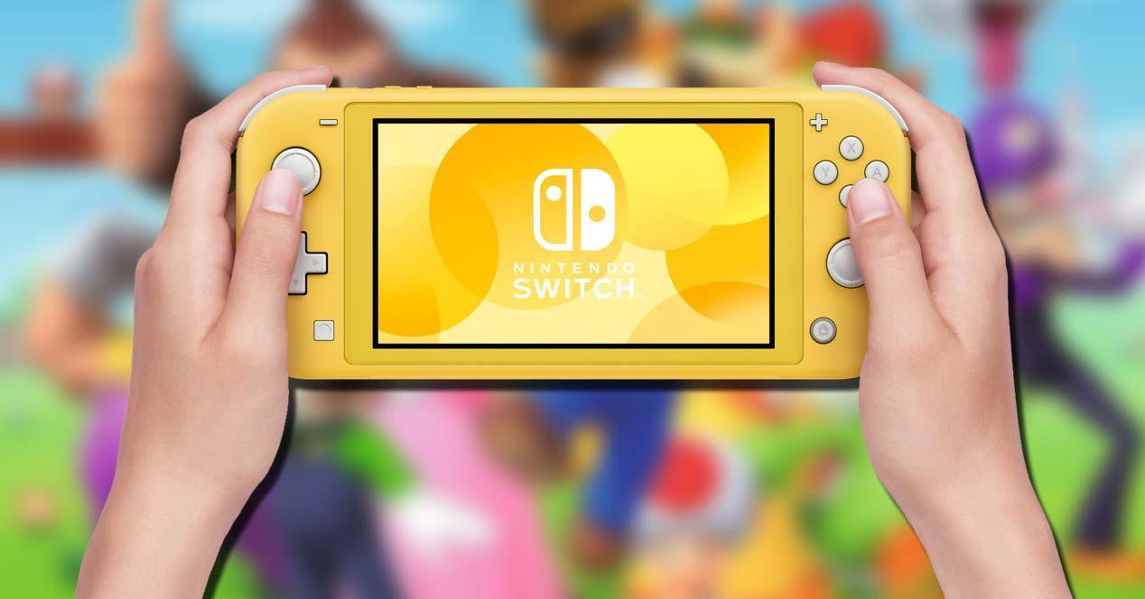 Uso de la Nintendo Swtich Lite con fondo