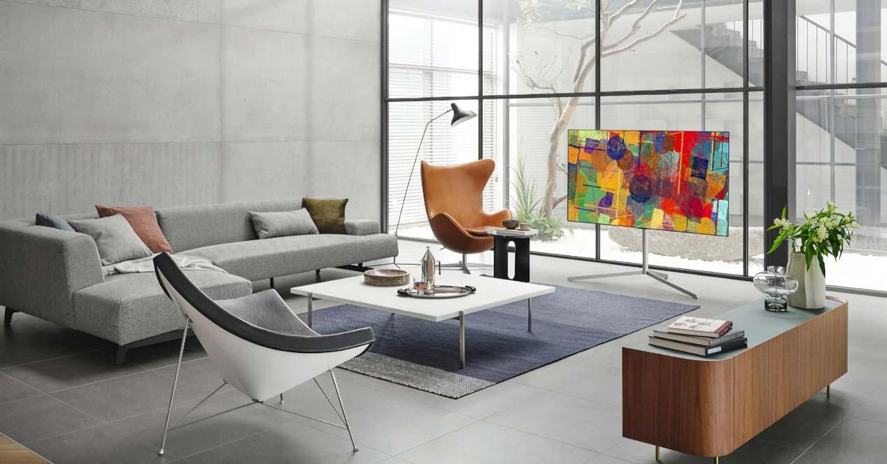 Smart Tv en un salón