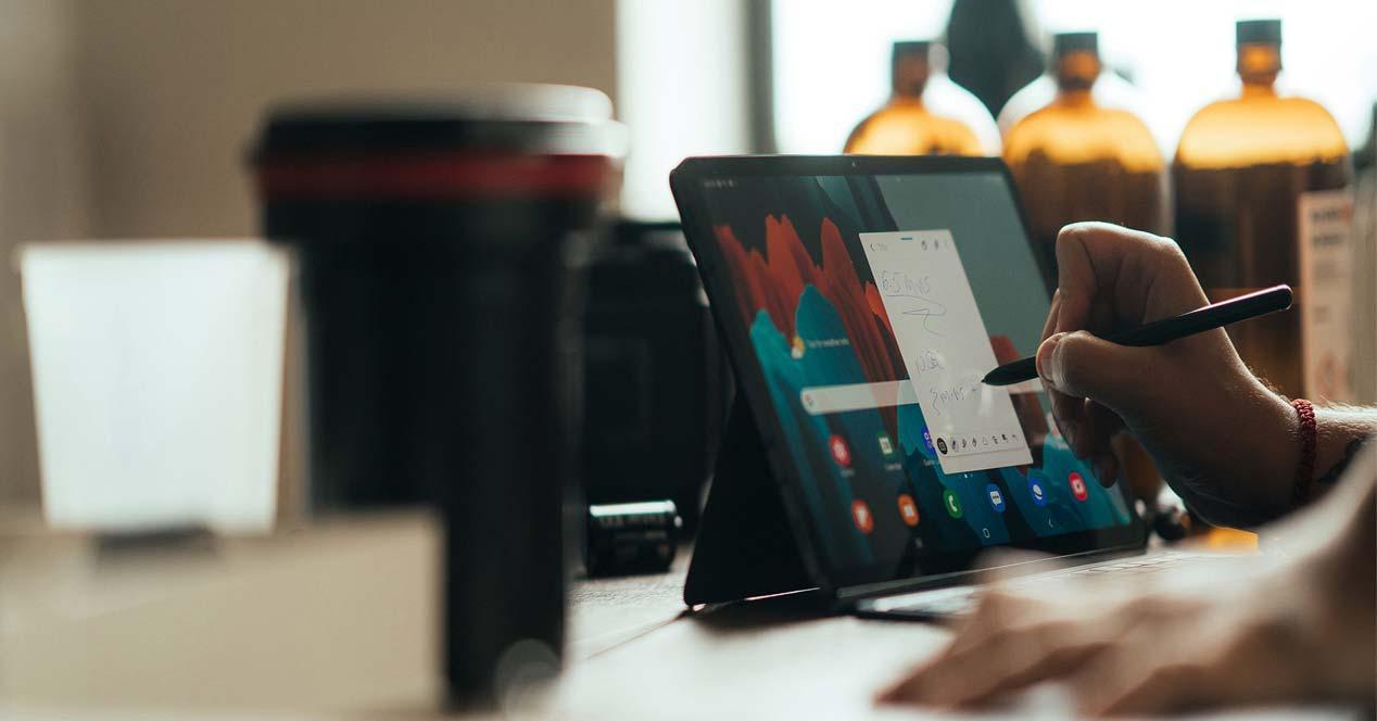 Uso con S Pen del Samsung Galaxy Tab S7