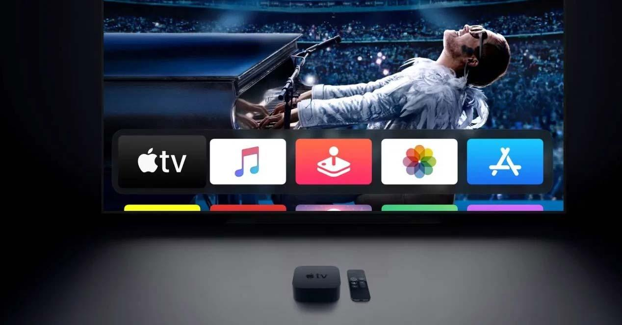 Reproductor Apple TV 4K con una tele