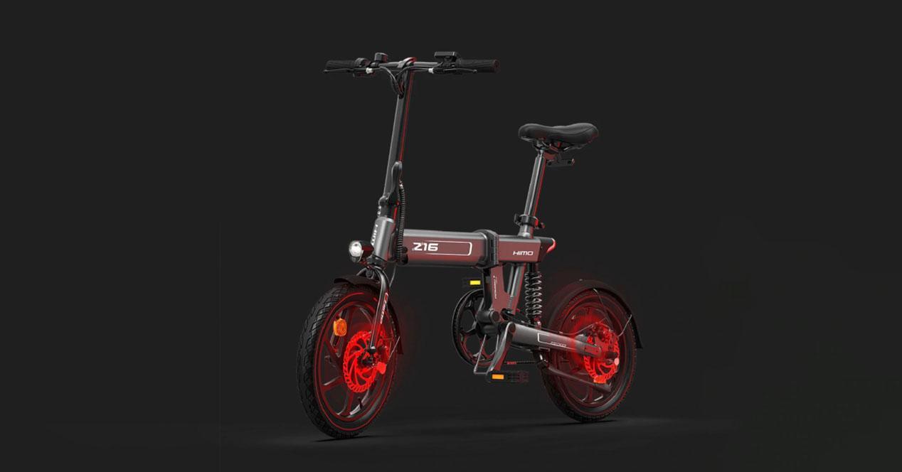 bicicleta electrica himo z16 oferta
