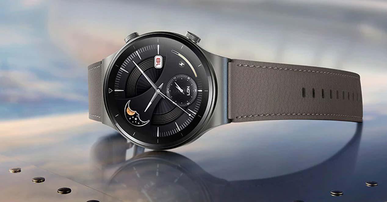 Reloj Huawei Watch GT2 con fondo