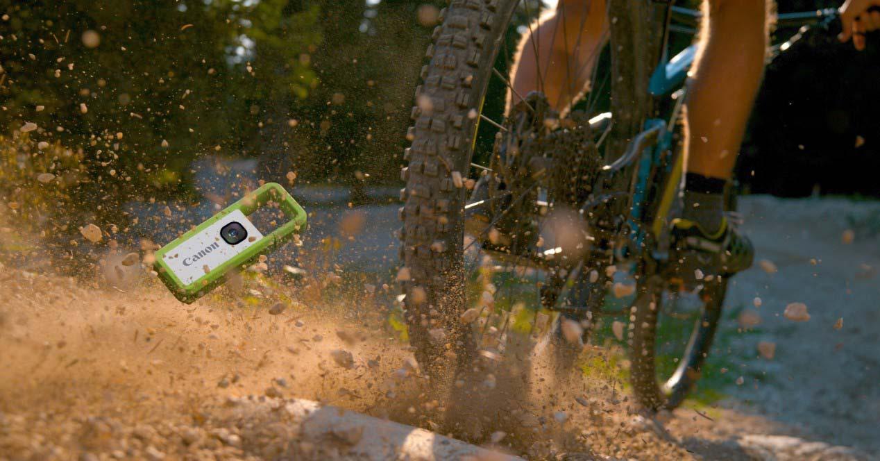 Canon Ivy Rec con bici deporte