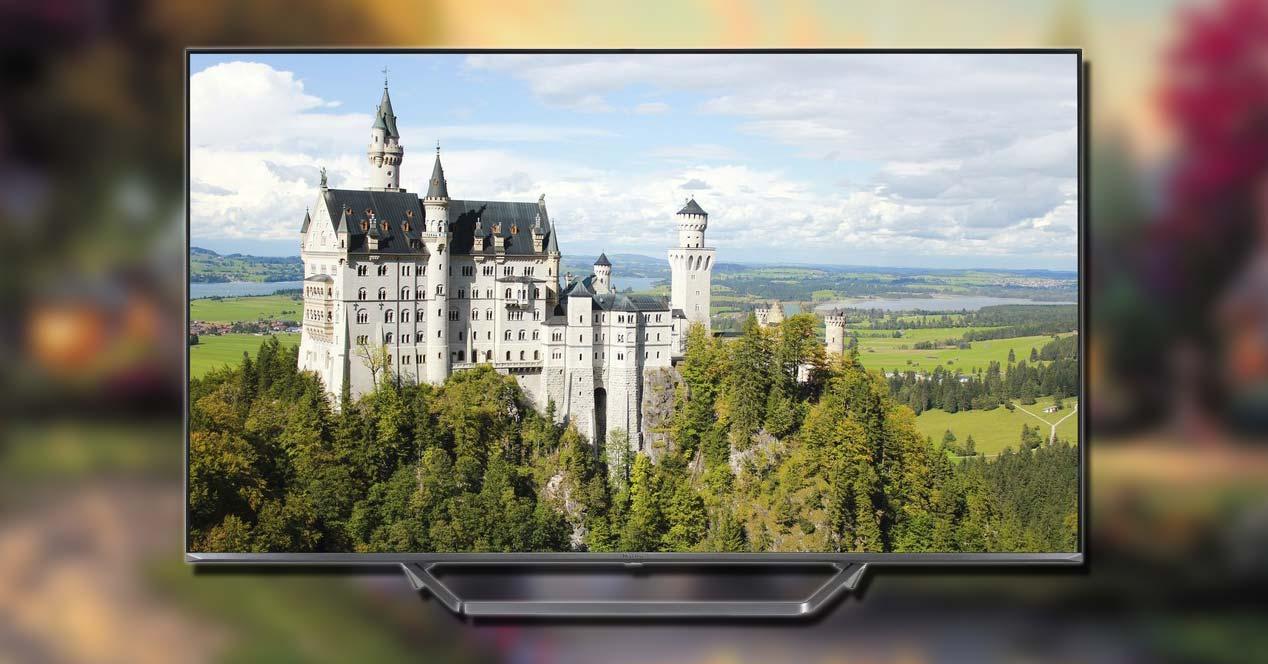 Smart TV Hisense en oferta con fondo