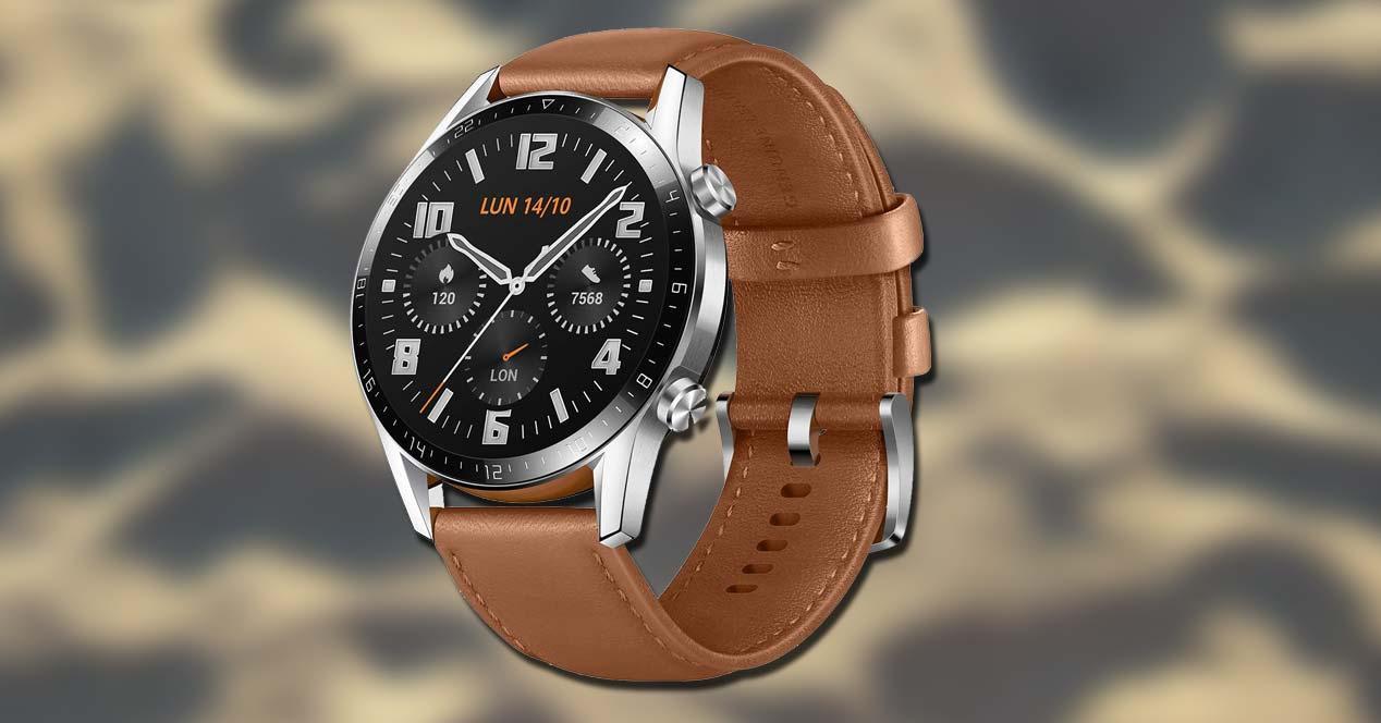 Huawei Watch GT2 con fondo