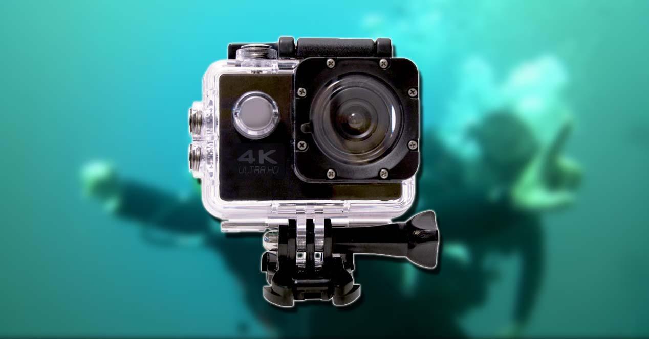 SK8 Cam con fondo de agua