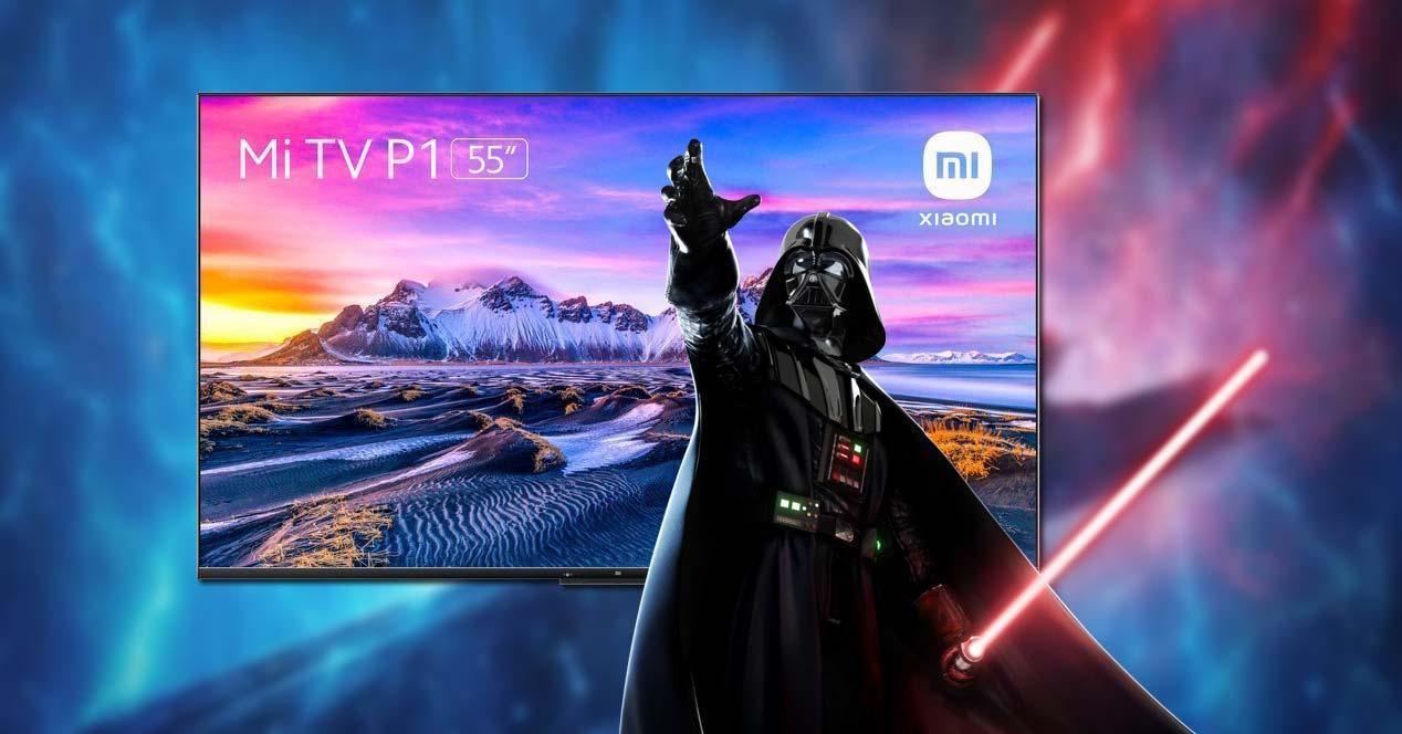 Tele Xiaomi Mi TV P1 con fondo