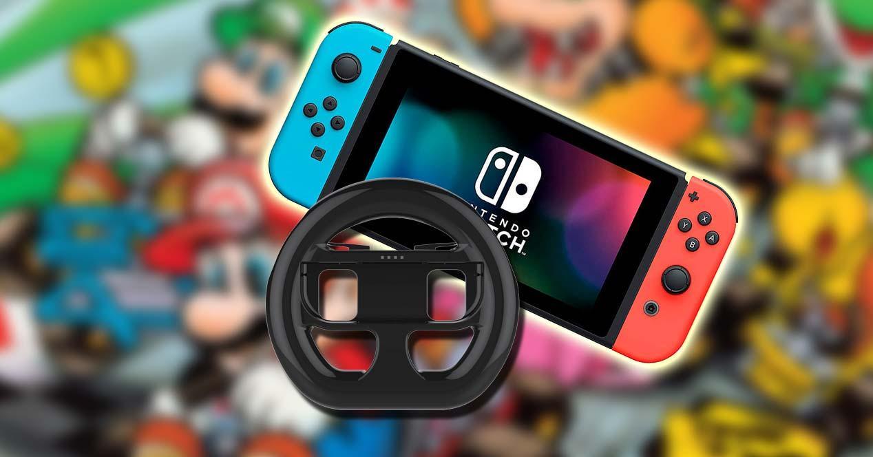 Volante con Nintendo Switch