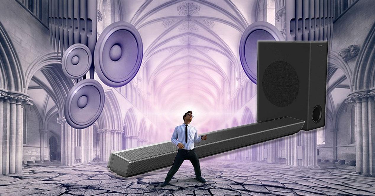 barra de sonido Philips potente con subwoofer en oferta