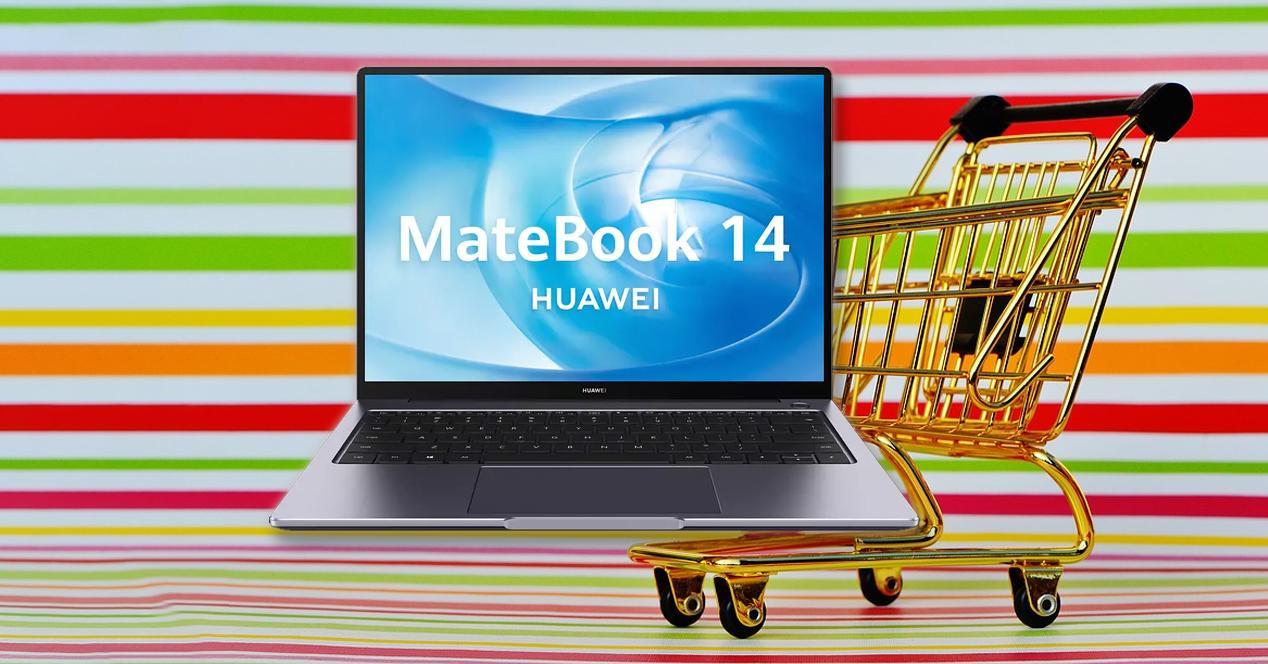 portátil huawei matebook 14 en oferta
