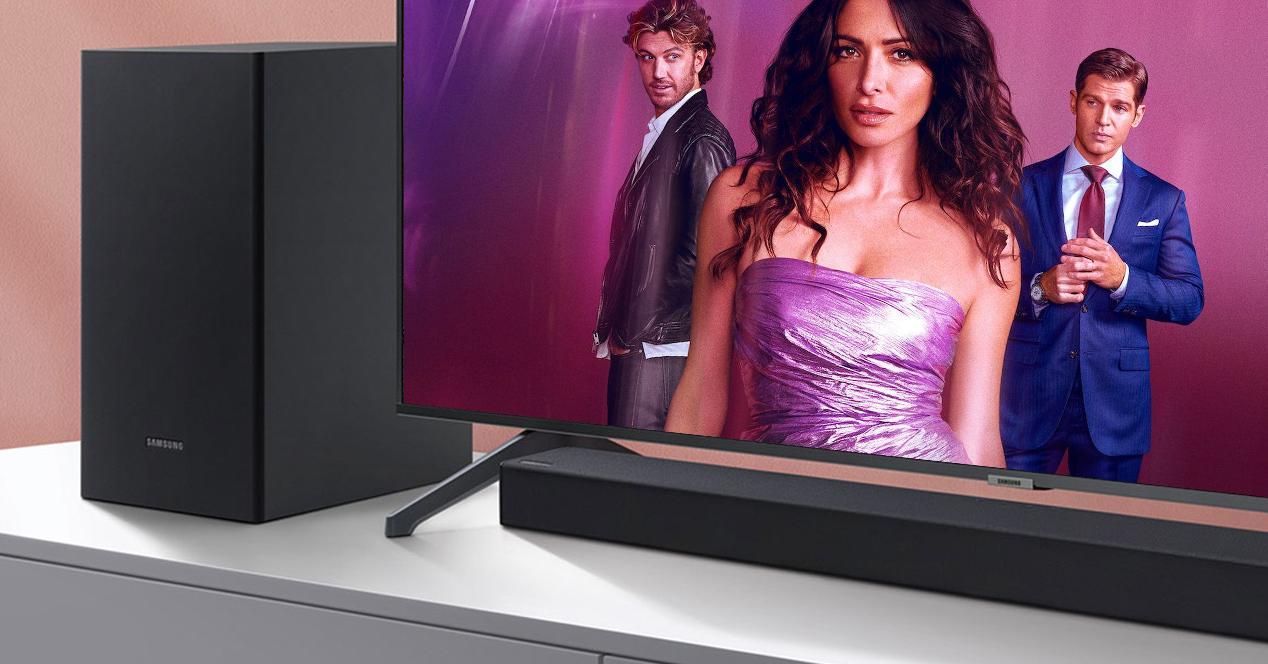 smart tv y barra samsung en oferta