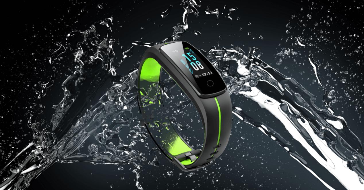 smartband bajo el agua