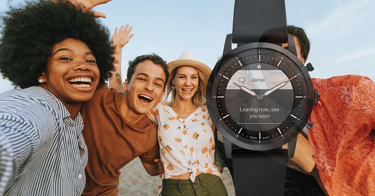 smartwatch fossil hybrid HR