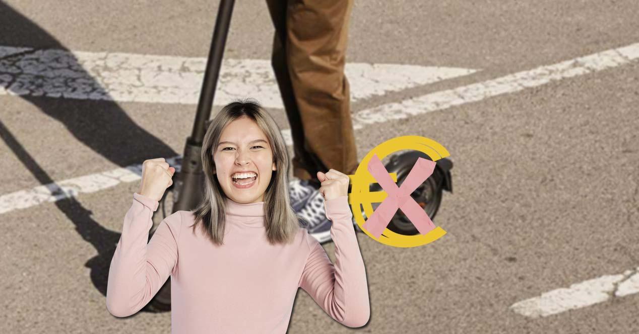 Chica descuento en patinetes eléctricos