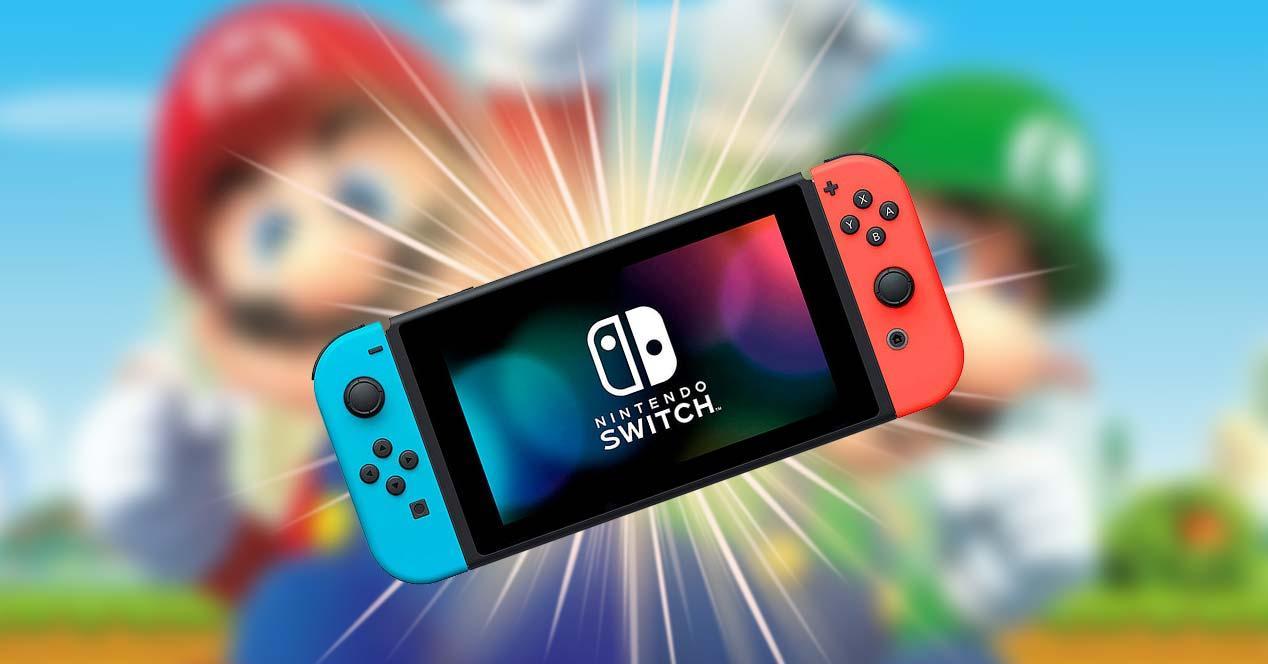 Fondo con la Nintendo Switch