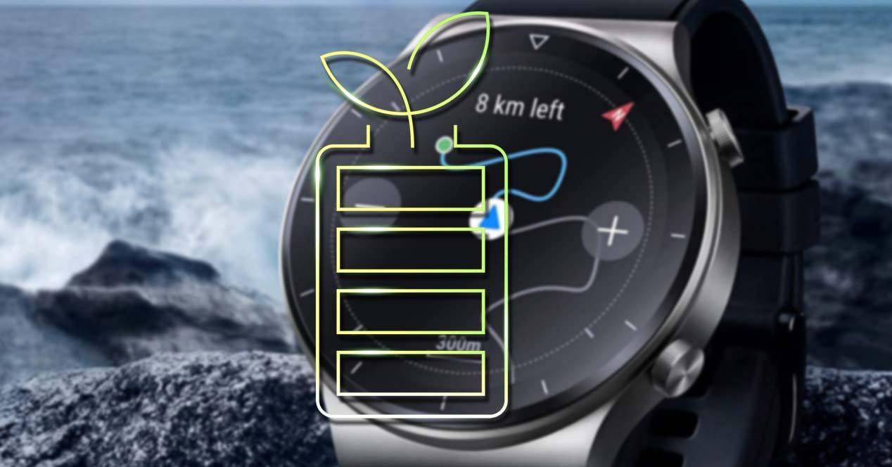 Reloj inteligente con batería