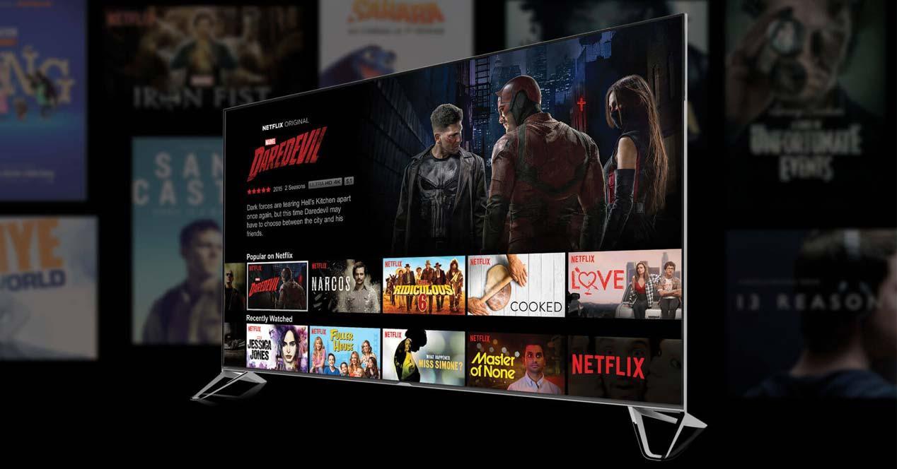 Smart Tv Android con fondo