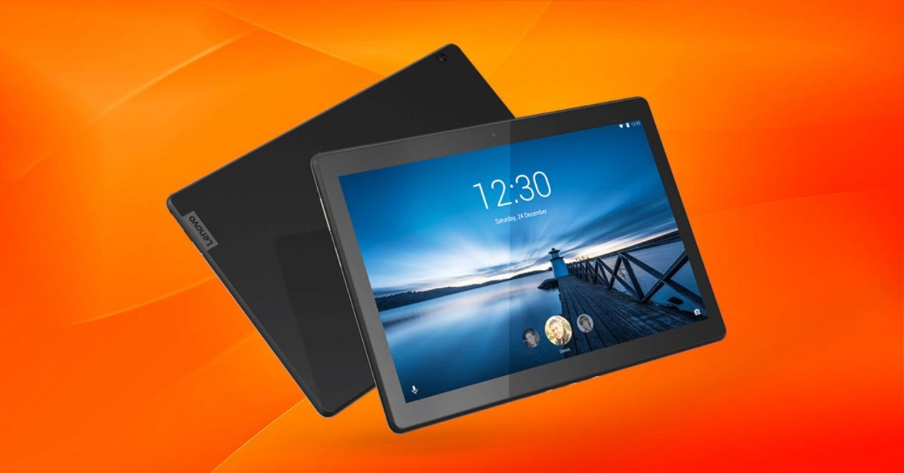 tablet m10 fondo naranja