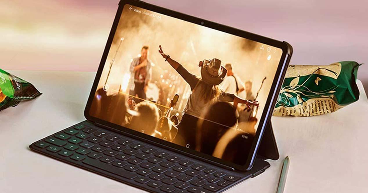 Tablet Android con teclado