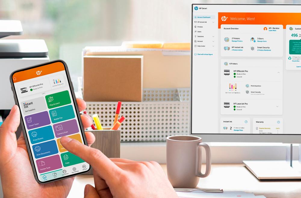 HP Smart App y monitor