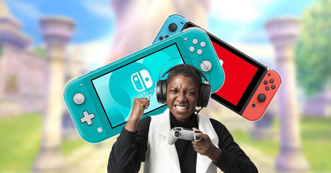 Nintendo Switch con fondo