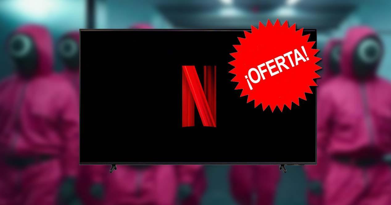 Samsung QE50Q60A con logo de Netflix