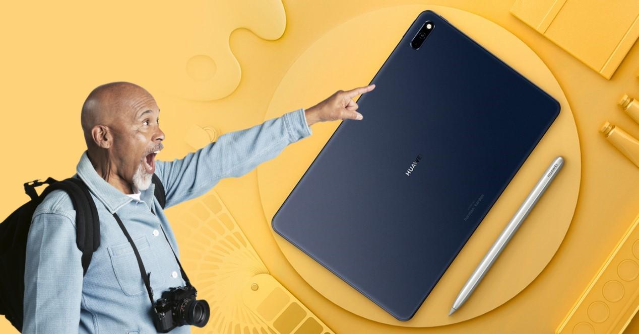hombre sorprendido con tablet