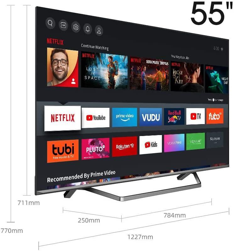 smart tv hisense latérale